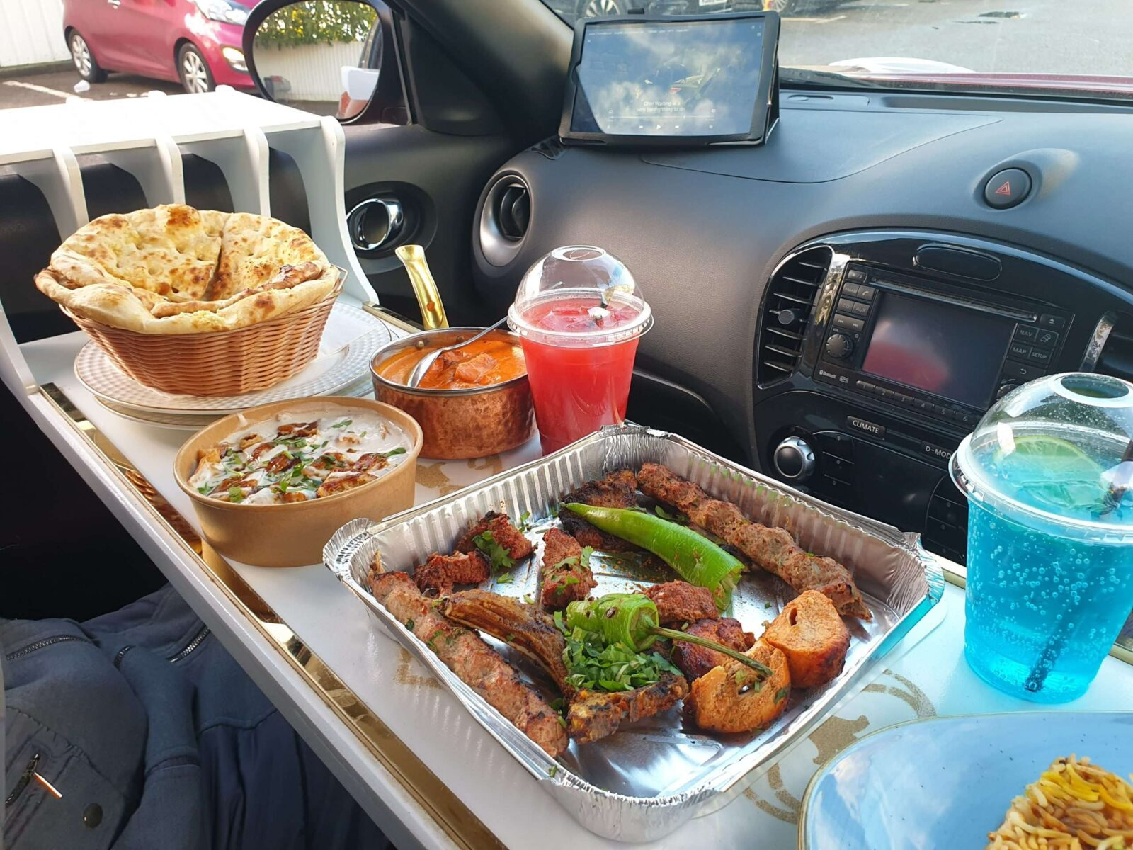 Drive Thru Served in a tray