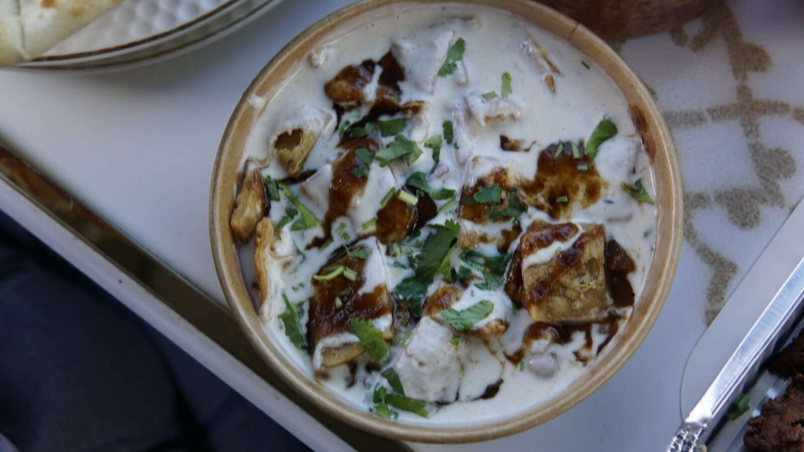 Aloo Papri Chaat for Starters at SV