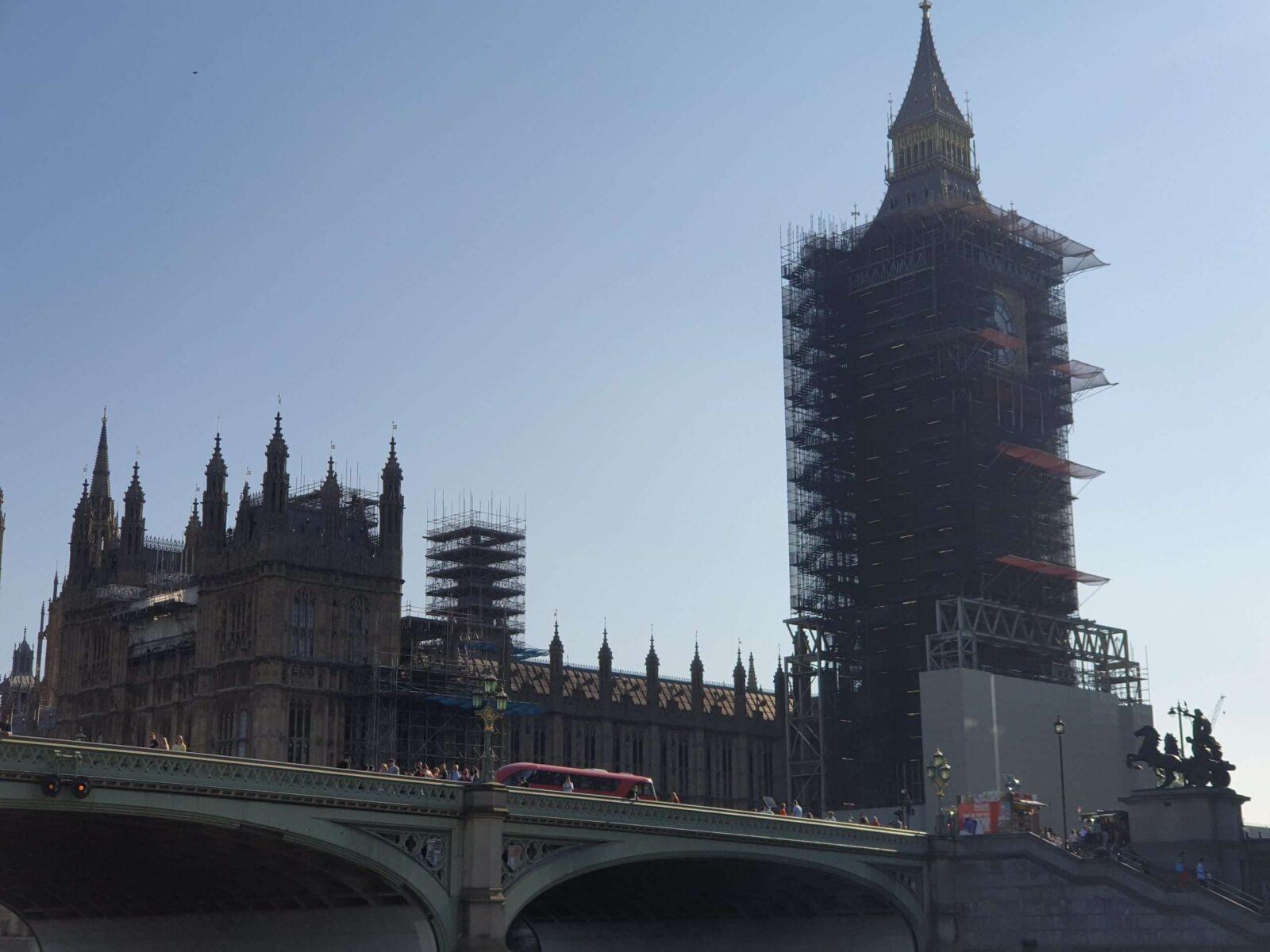Big Ben in construction