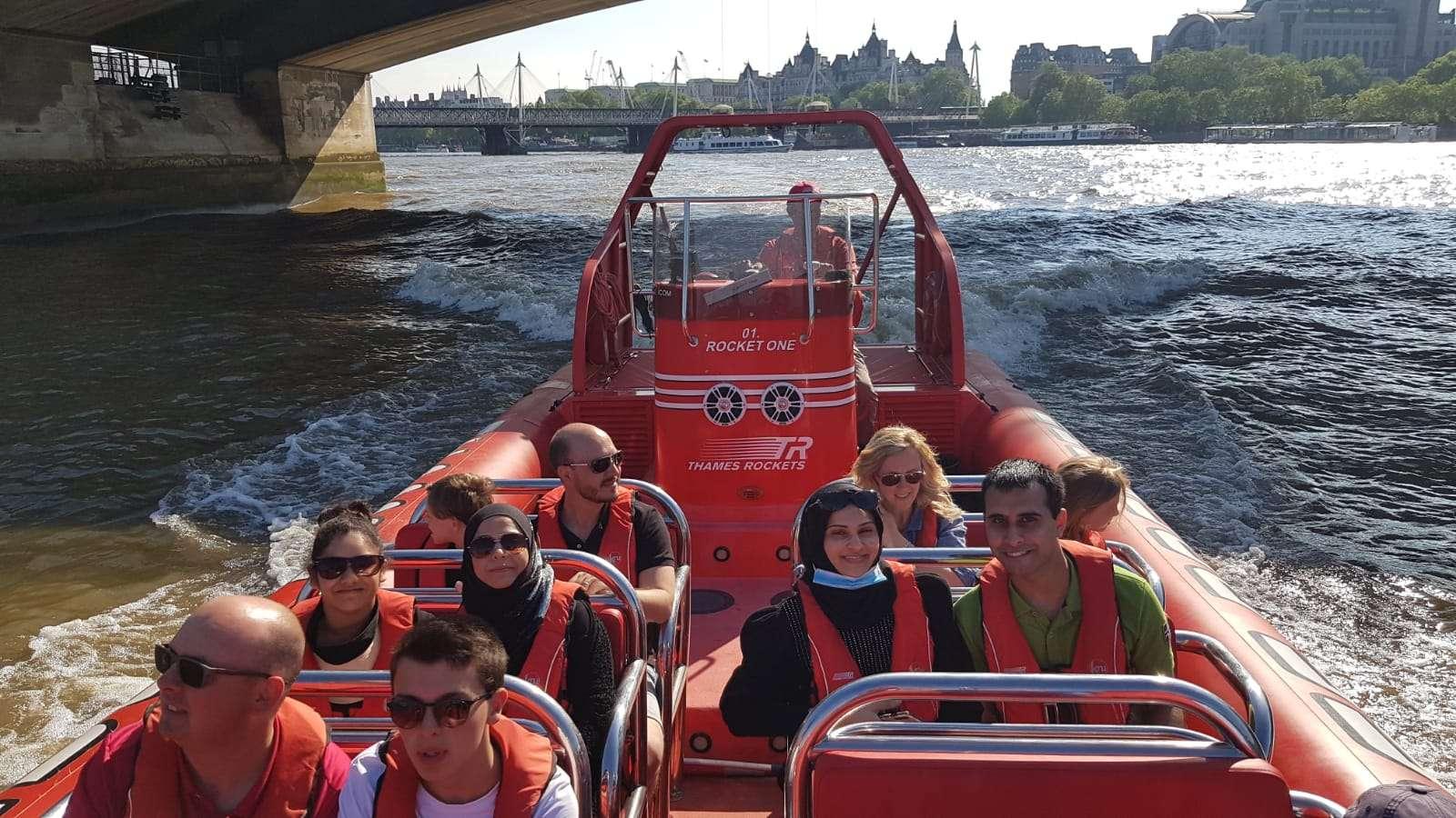 Group Photo on Thames Rocket
