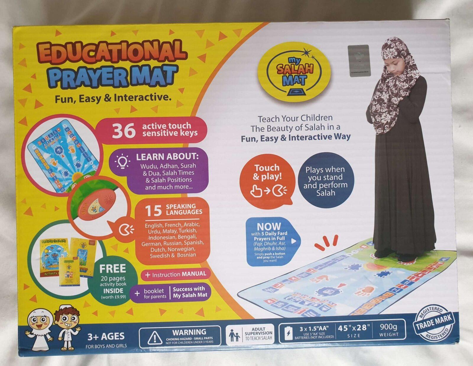 Front of Educational Prayer Mat 'My Salah Mat'