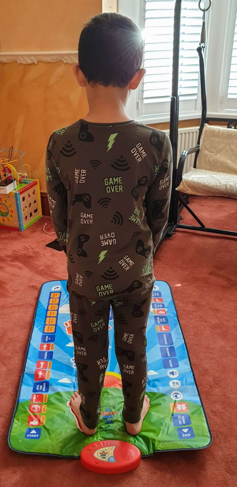 Nephew on My Salah Mat