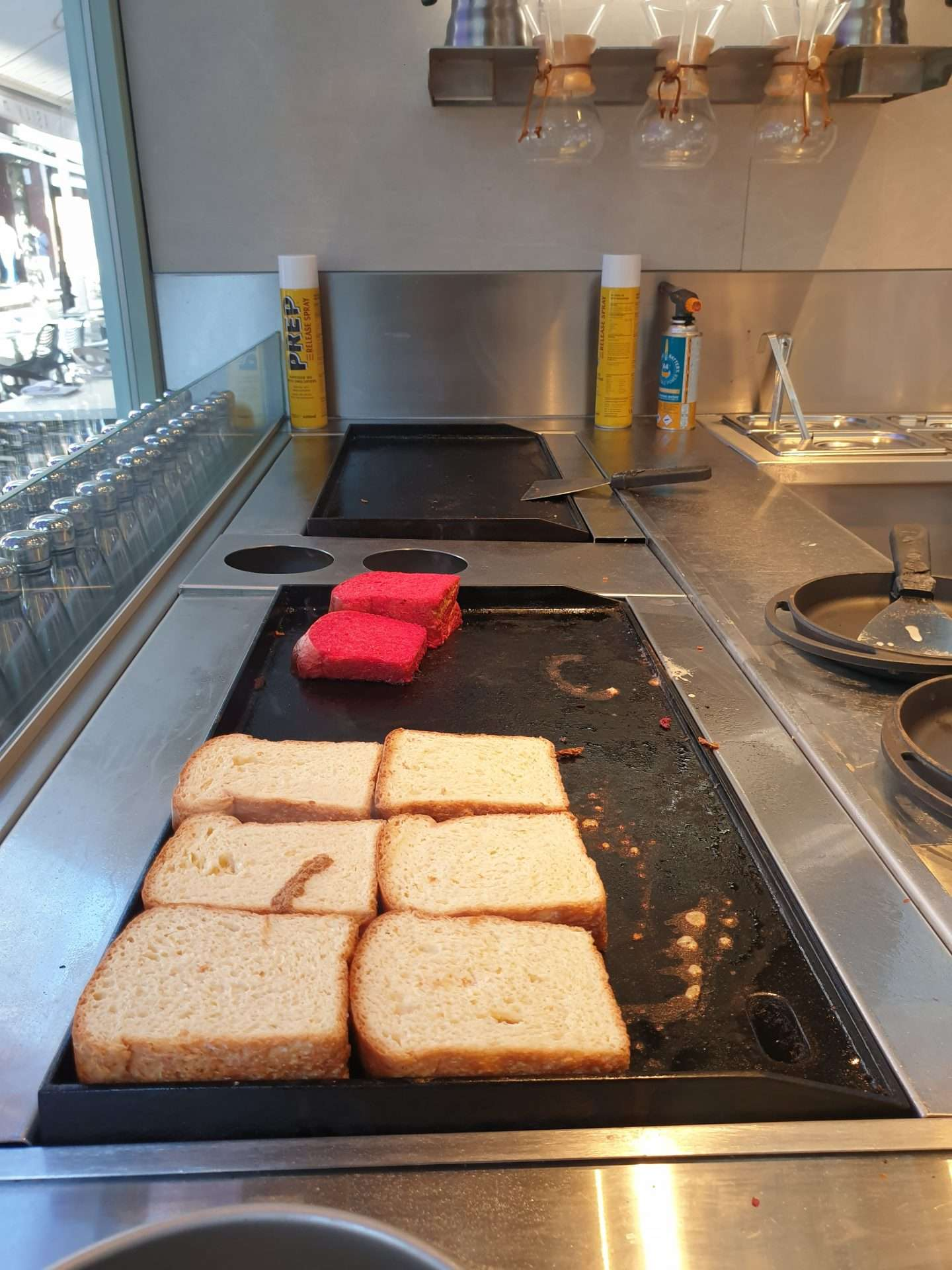 French Tost being prepared