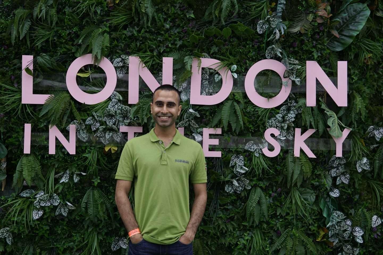 London in the Sky Rainforest backdrop